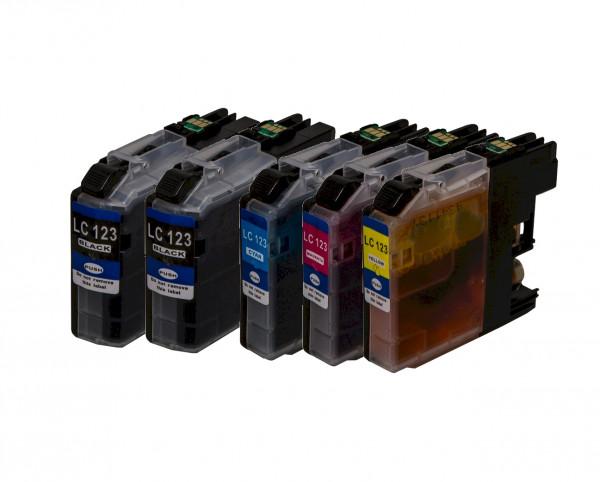 Tinten-Multipack Brother LC-121/LC-123 kompatibel (1 Komplettsatz) 10% Rabatt
