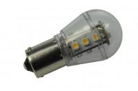 BA15S LED-Miniglobe AC/DC 140 Lumen 300° warmweiss 1,6W dimmbar Green-Power-LED