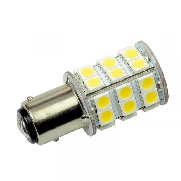 BAY15D LED-Bajonettsockellampe AC/DC 320 Lumen 270° kaltweiss 3,2W dimmbar Green-Power-LED