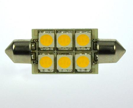 S8x42 LED-Soffitte AC/DC 100 Lumen 125° warmweiss 1W dimmbar Green-Power-LED