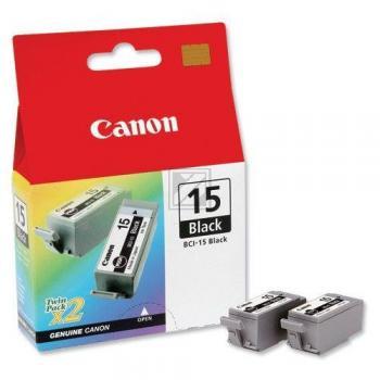 Canon Tintenpatrone 2 x schwarz 2-Pack (8190A002, BCI-15BK)