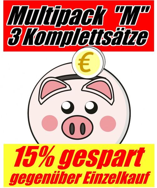 Tinten-Multipack Brother LC-227/LC-225 kompatibel (3 Komplettsätze) 15% Rabatt