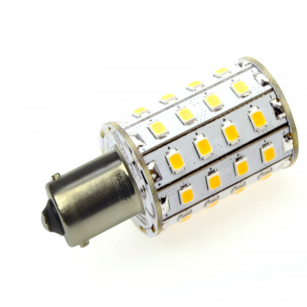 BA15S LED-Bajonettsockellampe DC 550 Lumen 300° warmweiss 4,8W Green-Power-LED