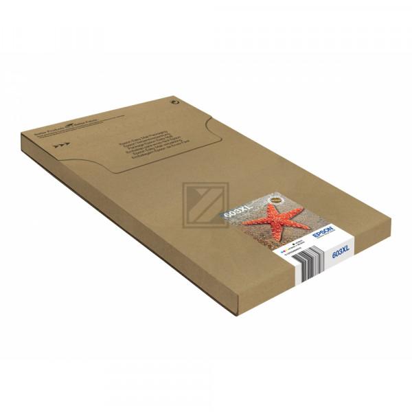 Epson Tintenpatrone EasyMail gelb cyan magenta schwarz HC (C13T03A64510, 603XL)