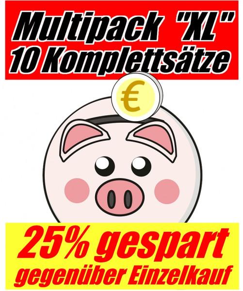 Tinten-Multipack Brother LC-970/LC-1000 kompatibel (10 Komplettsätze) 25% Rabatt