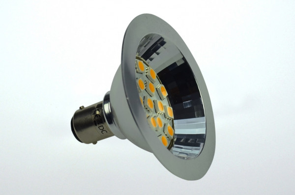 BA15D LED-Bajonettsockellampe AR70 AC/DC 250 Lumen 125° warmweiss 2,7W dimmbar Green-Power-LED
