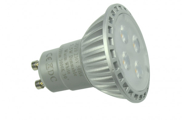 GU10 LED-Spot PAR16 AC 350 Lumen 30° kaltweiss 5W dimmbar Green-Power-LED