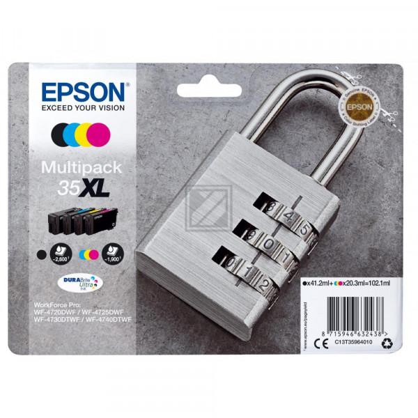 Epson Tintenpatrone gelb cyan magenta schwarz HC (C13T35964010, 35XL)