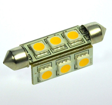 S8x42 LED-Soffitte AC/DC 145 Lumen 270° warmweiss 2W dimmbar Green-Power-LED