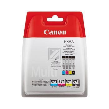 Canon Tintenpatrone gelb cyan magenta schwarz (0386C005, CLI-571PA)