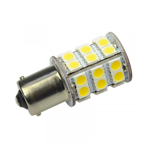 BA15S LED-Bajonettsockellampe AC/DC 350 Lumen 270° warmweiss 3 W Green-Power-LED