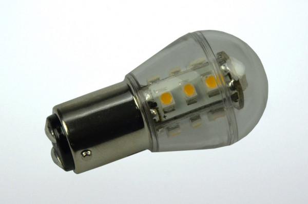 BA15D LED-Miniglobe AC/DC 140 Lumen 300° warmweiss 1,6W dimmbar Green-Power-LED