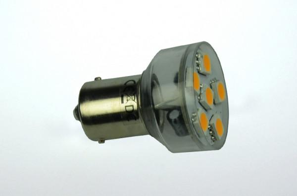 BA15S LED-Bajonettsockellampe AC/DC 100 Lumen 125° warmweiss 1W dimmbar Green-Power-LED