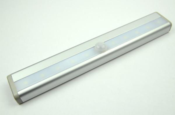 LED-Lichtleiste batteriebetrieben DC 30 Lumen 140° kaltweiss 1 W Bewegungsmelder Green-Power-LED