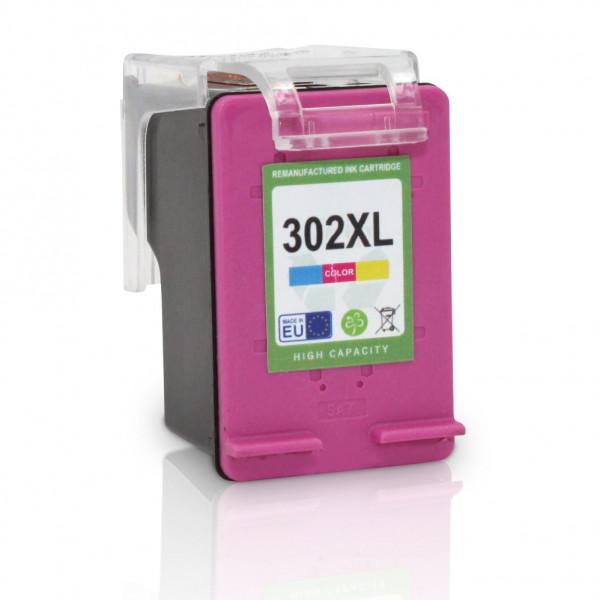 HP F6U67AE, 302XL kompatible Tinte Color CMY (farbig) 18 Ml.