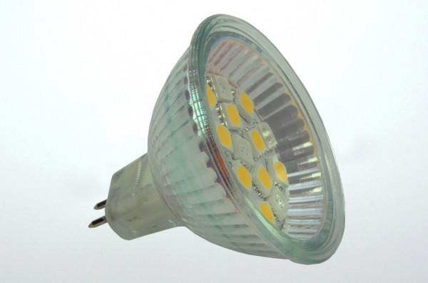 GU5.3 LED-Spot PAR16 AC/DC 150 Lumen 125° warmweiss/rot 1,8W Wechselschaltung Green-Power-LED