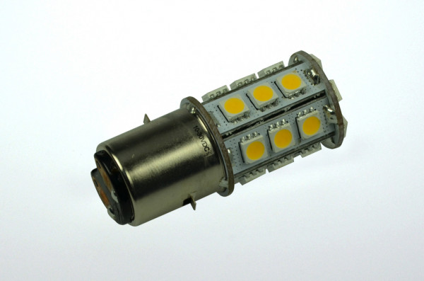 BA20D LED-Bajonettsockellampe AC/DC 270 Lumen 300° warmweiss 2,5W dimmbar Green-Power-LED