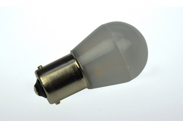BA15S LED-Miniglobe AC/DC 110 Lumen 300° warmweiss 1,6W matt Green-Power-LED