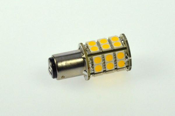 BAY15D LED-Bajonettsockellampe AC/DC 300 Lumen 270° warmweiss 3,2W dimmbar Green-Power-LED
