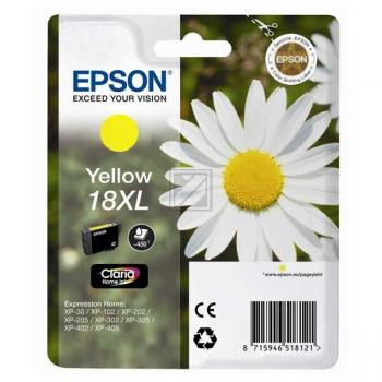 Epson Tintenpatrone gelb HC (C13T18144020, T1814)