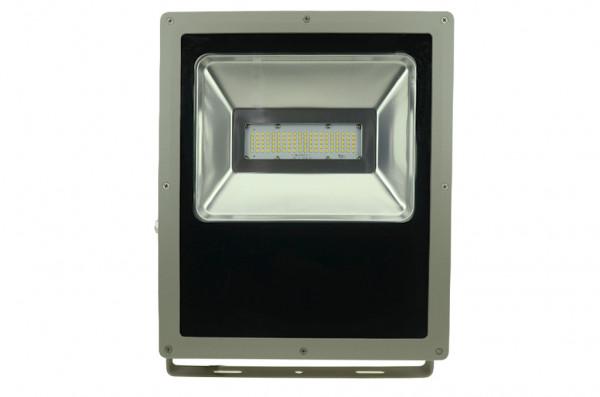 LED-Flutlichtstrahler AC/DC 7900 Lumen 120° warmweiss 100W flache Bauweise Green-Power-LED