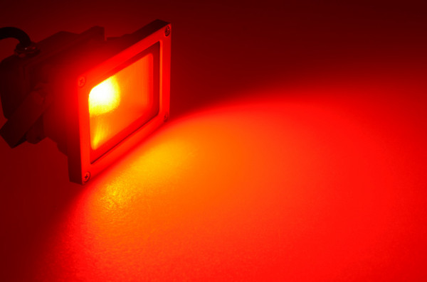 LED-Flutlichtstrahler AC 120° rot 12W Green-Power-LED
