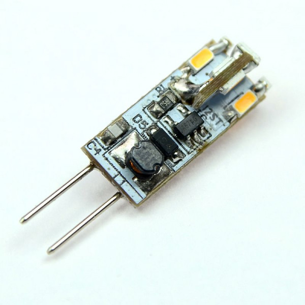 G4 LED-Stiftsockellampe AC/DC 65 Lumen 300° warmweiss 0,6W dimmbar Green-Power-LED