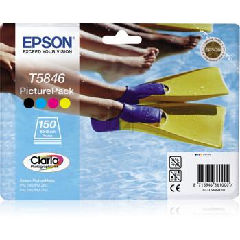 Epson Tintenpatrone Fotopapier 100x150mm schwarz/cyan/magenta/gelb (C13T58464010, T5846)