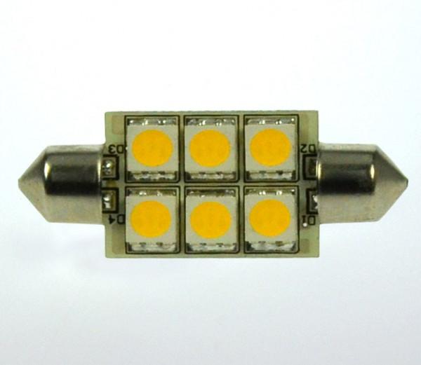 S8x37 LED-Soffitte AC/DC 107 Lumen 125° kaltweiss 1W dimmbar Green-Power-LED