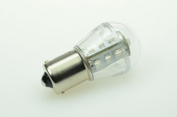 BA15S LED-Miniglobe AC/DC 51 Lumen 300° Grün 0,9W Signallampe Green-Power-LED
