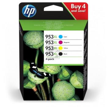 HP Tintenpatrone gelb cyan magenta schwarz (3HZ52AE, 953XL)