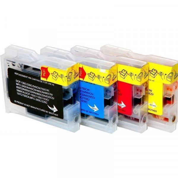 Tinten-Multipack Brother LC-970/LC-1000 kompatibel (1 Komplettsatz) 10% Rabatt