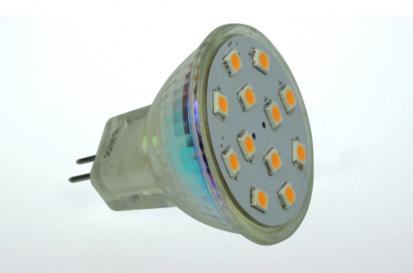 GU4 LED-Spot MR11 AC/DC 169 Lumen 125° warmweiss 2W CRI>90 Green-Power-LED