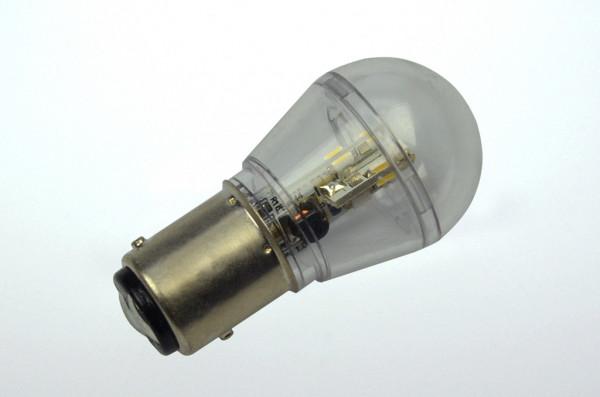 BAY15D LED-Miniglobe AC/DC 60 Lumen 360° warmweiss 0,7W dimmbar Green-Power-LED