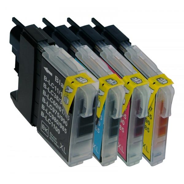Tinten-Multipack Brother LC-980 kompatibel (1 Komplettsatz) 10% Rabatt