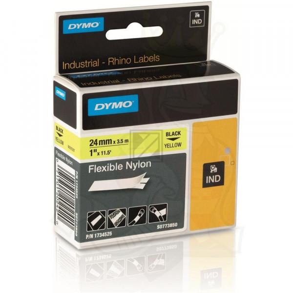 Dymo Flexibles Nylonband 24mm schwarz/gelb (1734525)