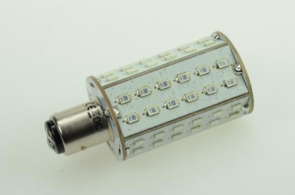 BAY15D LED-Bajonettsockellampe AC/DC 130 Lumen 270° Rot 4,3W Green-Power-LED