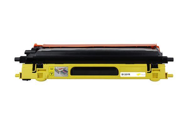 Brother TN-135Y kompatible Tonerkartusche yellow 4000 S.